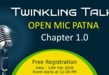 Twinkling Talks Open mic 2K18