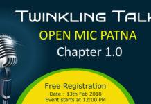 Twinkling Talks Open mic 2K18